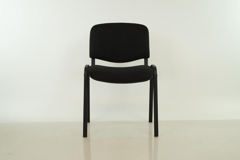 Besucherstuhl / Stapelstuhl schwarz